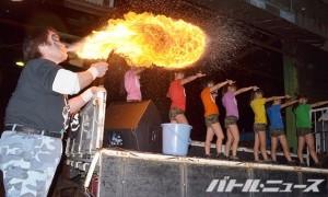 アプガの『Burn-the-fire!!』に合わせてビッグファイヤーを噴射したポーゴ