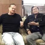 山形のホテルにて撮影されたジョー・ドーリングと諏訪魔