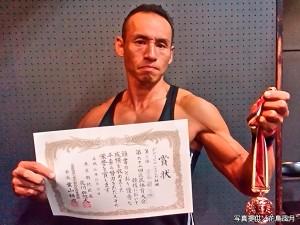 東京都北区のボディービル大会で3位入賞したマッチョ