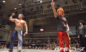 11・30後楽園でのKO-D無差別級戦が決まったHARASHIMAと高尾