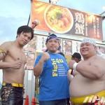 DDTと小路さんのお店のコラボラーメン出店ブース前で
