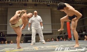 大相撲トーナメント一回戦_松永vs竹下