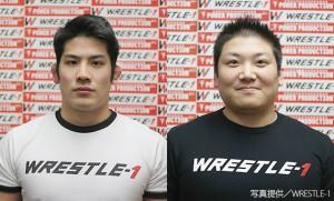 W-1の2・13後楽園でデビューする芦野祥太郎(左)熊ゴロー(右)