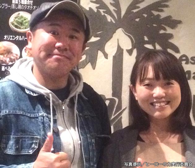 ヒーローの力のゲストに決まったシンガーの小澤綾子さんとプロデューサーのSUWA