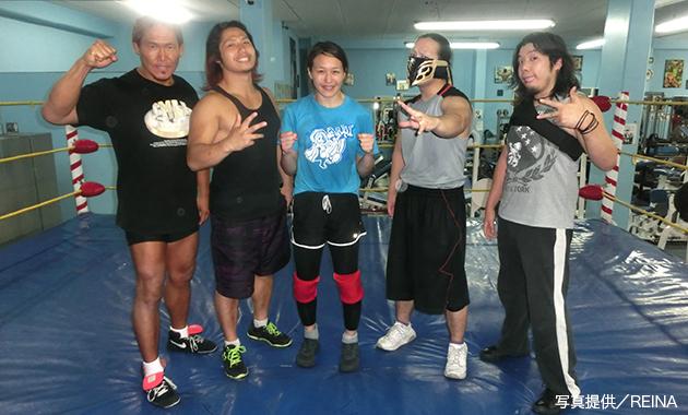 朱里が日本人5選手による合同ルチャ練習に参加