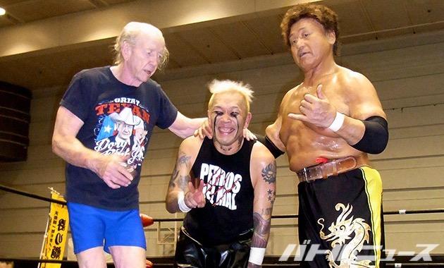 11月に引退する天龍がテリーファンクの代打ドリーファンクJrとタッグ