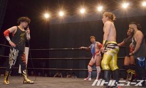 2015-5-23ユニオン北沢_FUMAからフォール勝ちした久保がMAX王座への挑戦を表明