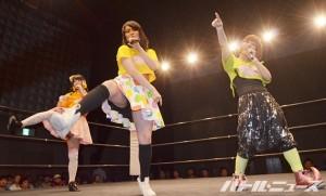 2015-5-23東京女子_めんたいぎょうざマンゴー添え