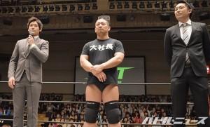 2015-5-31DDT後楽園_DDTと吉本の2団体所属を発表したてのりタイガーの渡瀬瑞基