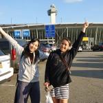 アメリカ遠征中の朱里とREINA練習生の坂本茉莉