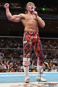 2015-8-14新日本プロレス両国_Aブロック1位で優勝決定戦進出を決めた棚橋
