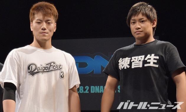 DDT8・23両国大会でデビューする井上麻生と渡瀬瑞基