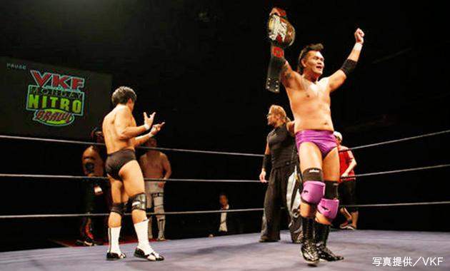 VKF_急遽行われたVKF選手権で松田から王座を奪取した矢郷