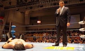 2015-10-12全日本プロレス後楽園_西村がKENSOとのタッグで最強タッグ出場表明