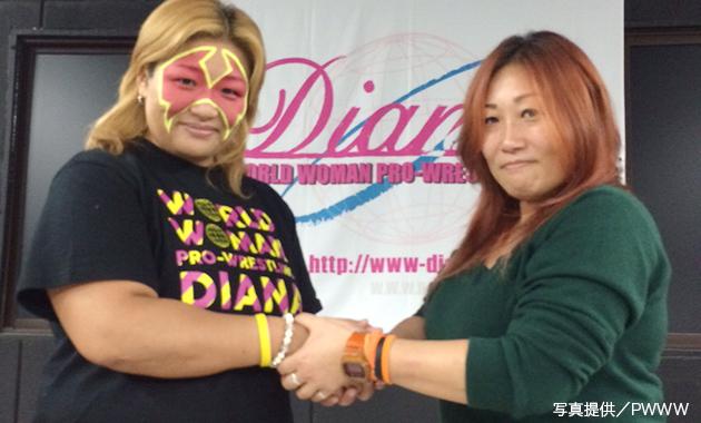 JWPとディアナの合同興行で京子と春山のシングルマッチが決定