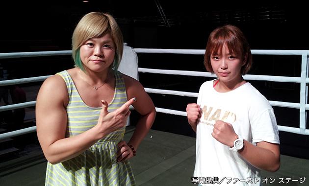 フュチュールジム主催のスポーツ興行で試合を行う高橋奈七永とSareeeがリングチェック