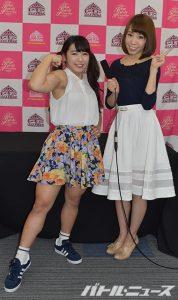2016-05-26東京女子プロレス_筋肉アイドル才木玲香_ミス白百合滝川あずさ