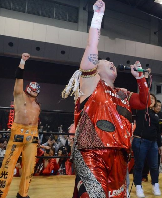 "Zero1: ""Pro-Wrestling Festival in Saga"" Great Sasuke y Nagayo desatan violencia 5"